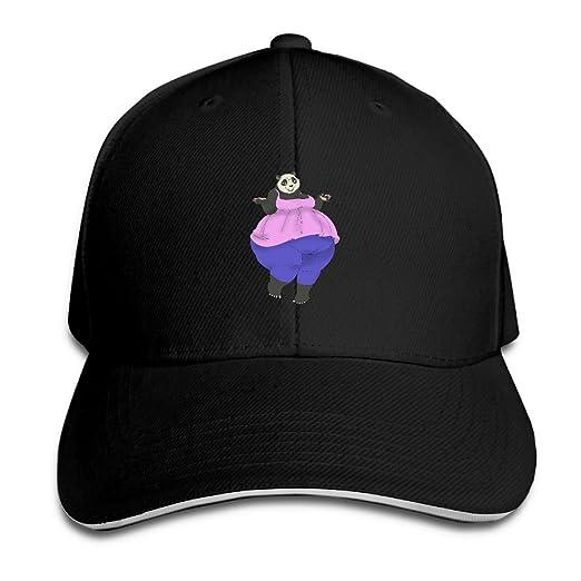 Amazon.com  Adjustable Baseball Cap A Fat Panda Unisex Dad Hat ... eef2b518b03d