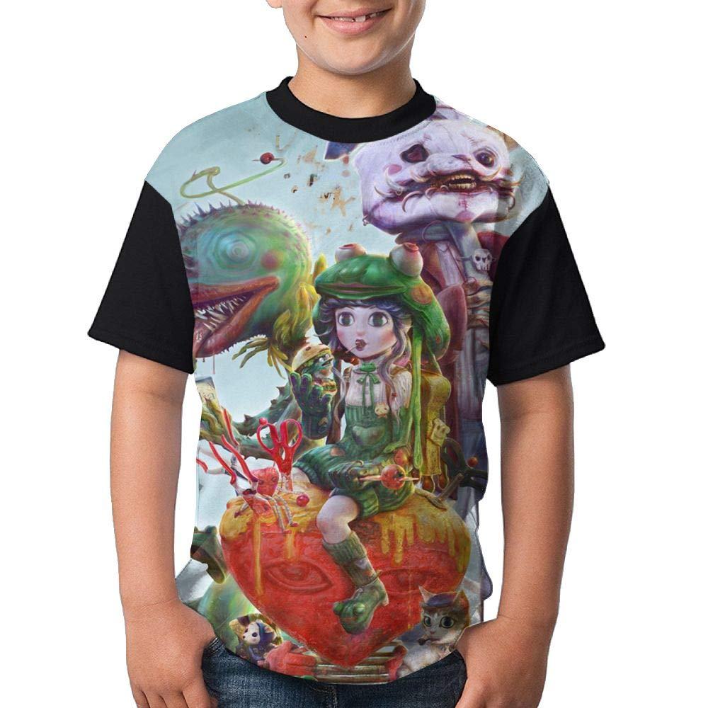 A Prank In The Fantasy World Kids Girl's 3D Printed Short Sleeve Funny Round Neck Tshirt X-Large