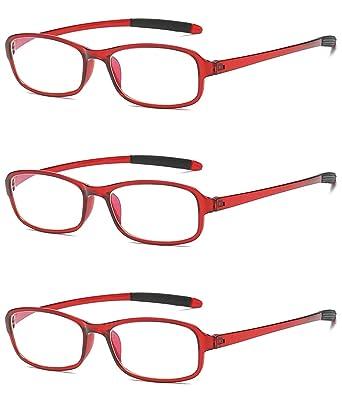 a2852dc8152791 VEVESMUNDO Lesebrillen Anti Blaulicht Computer Sehhilfe Lesehilfe Herren  Damen Retro Licht Flexibel Arbeitsplatzbrille Brillen mit Stärke