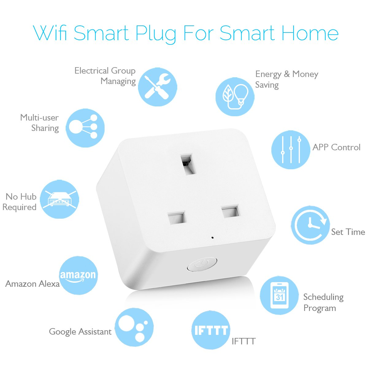 WiFi Sockets Compatible with Alexa Google Assistant and IFTTT ...