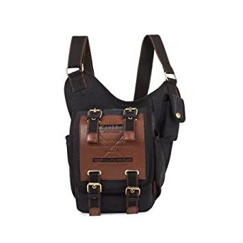 Famoney men boys canvas bag retro fashion postman package shoulder messenger knight backpacks for Ipad Andrews