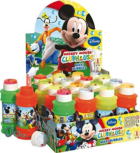 Pack Of 3 - Mickey Mouse Clubhouse Maxi Bubbles 175ml Tub - Party Bag Toys - Party (Mickey Bubbles)