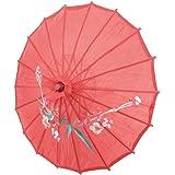 """TOOGOO(R) Stampa del fiore di bambu' rosso 21 """"Dia orientale ombrello parasole"""