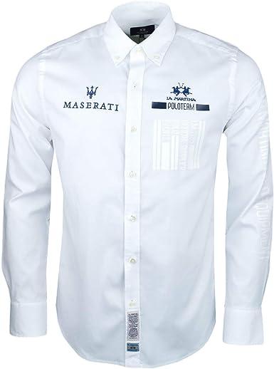 A escala nacional Motear motivo  La Martina - Camisa Casual - Chaqueta - para Hombre Blanco XXL: Amazon.es:  Ropa y accesorios