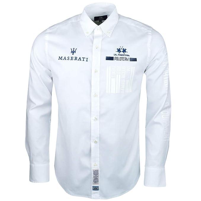 La Martina - Camisa Casual - Chaqueta - para Hombre Blanco XXL: Amazon.es: Ropa y accesorios