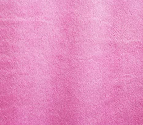 "Sold by the yard Minky Double Sided PINK Fabric 60/"" Wide"