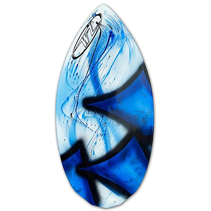 95cb5a319a0147 Amazon.com : Wave Zone Diamond - Fiberglass Skimboard for Beginners - Blue  : Sports & Outdoors