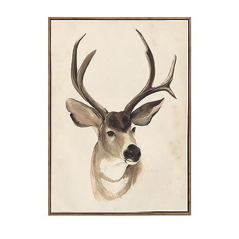 Amazon.com: XiYunHan Mural moderno minimalista Elk pequeño ...