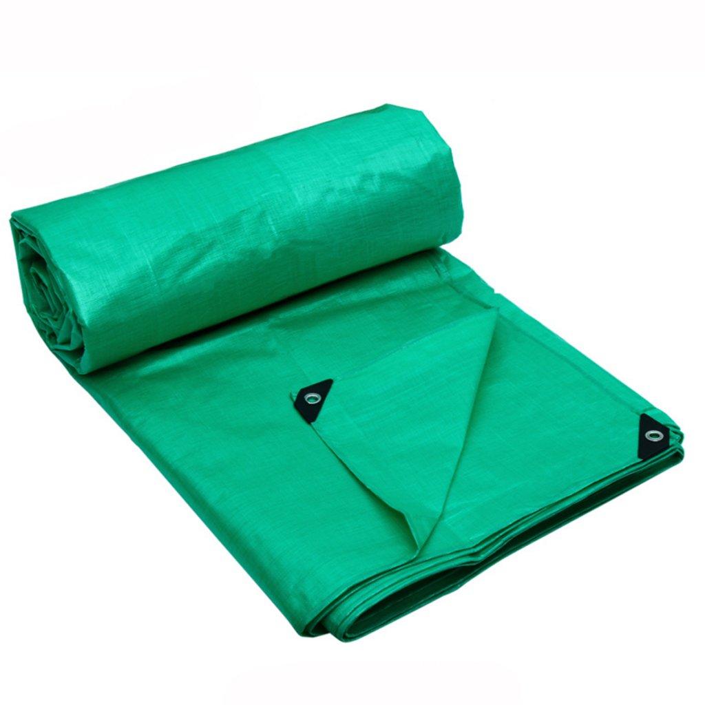ターポリン防水日焼け止めバイザーの雨布キャノピーリネン車の車の三輪車のターポリンPE (色 : Double-sided green, サイズ さいず : 8 * 6m) B07FLV6BTY 8*6m|Double-sided green Double-sided green 8*6m