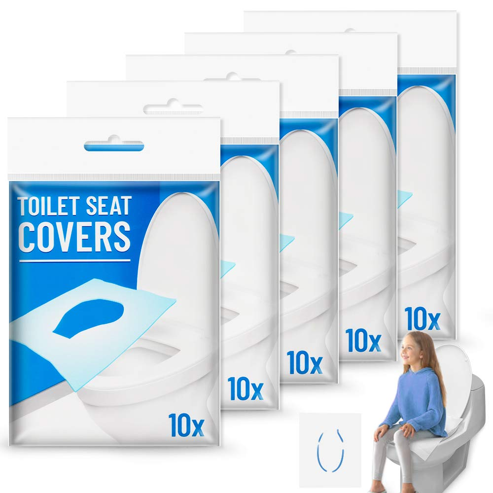 50pcs Pack Disposable Toilet Seat Covers Paper Travel Biodegradable Sanitary