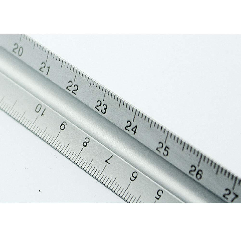disegno tecnico e architetti triangolo righello redazione righello 300/mm Metric triangolare scala righello tecnico argento accurata righello scala multifunzionale architetto righello per ingegneri