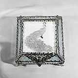 Peacock 4X4 SILVER Jewelry Box