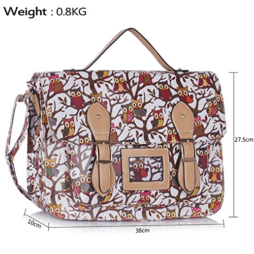 Strap Body Crossbody Design Boys girls With Cross for White owl 1 Print school Animal Bags Shoulder College zdwxxqUBg