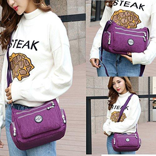 à Bag Sac Body Violet à Cross Femmes imperméable occasionnel en Bag nylon Messenger bandoulière l'eau q1WxCHpw
