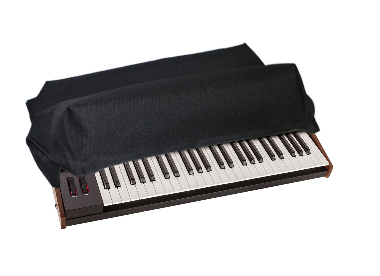 Dust Cover & Protector for DAVE SMITH INSTRUMENTS OB-6 / PROPHET 6 KEYBOARDS [Water Resistant, Premium Black Fabric, Heavy Duty] by DigitalDeckCovers DSI6-BLK