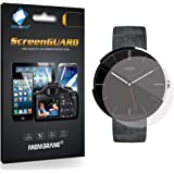 3 x Membrane Screen Protectors for Motorola Moto 360 - Crystal Clear (Glossy), Retail Package, Installation Kit