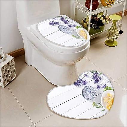 9314f2aadda1 Amazon.com: Printsonne Cushion Non-slip Toilet Mat cosmetic creams ...