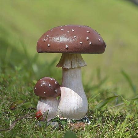 Amazon Com Danmu 1pc Garden Mushroom Decor Polyresin Mushroom