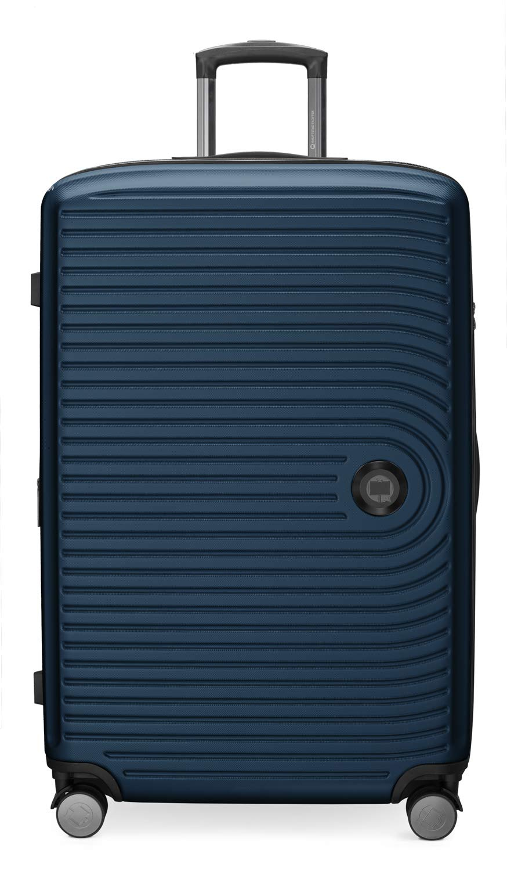 Trolley Taille Moyenne 68 cm Set de 3 valises MITTE Verrouillage TSA ABS Bleu fonc/é HAUPTSTADTKOFFER Grosse Valise 77 cm Bagage Cabine /à roulettes 55 cm