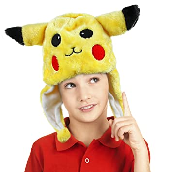 Pokemon suave peluche gorro aviador Cartoon Animal Hood Cap ...