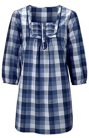 Ladies Check Shirts Designs | Ladies Blue Checked Shirts Size 8 14 Amazon Co Uk Clothing