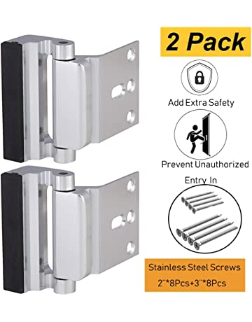 Door Security Lock, Child Proof Door Reinforcement Lock with 2