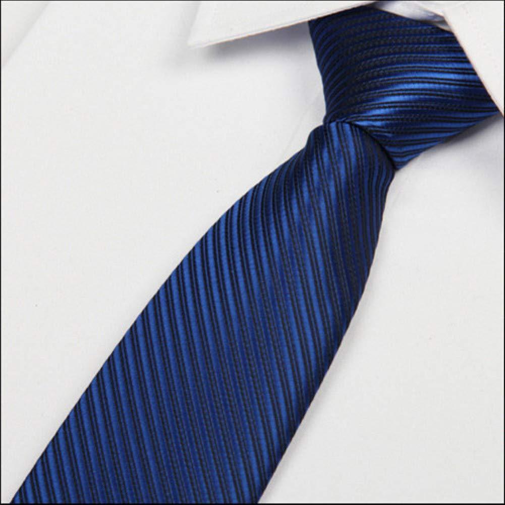 COLILI Corbata Azul Real para Bodas Hombres Corbata 8Cm Caballeros ...