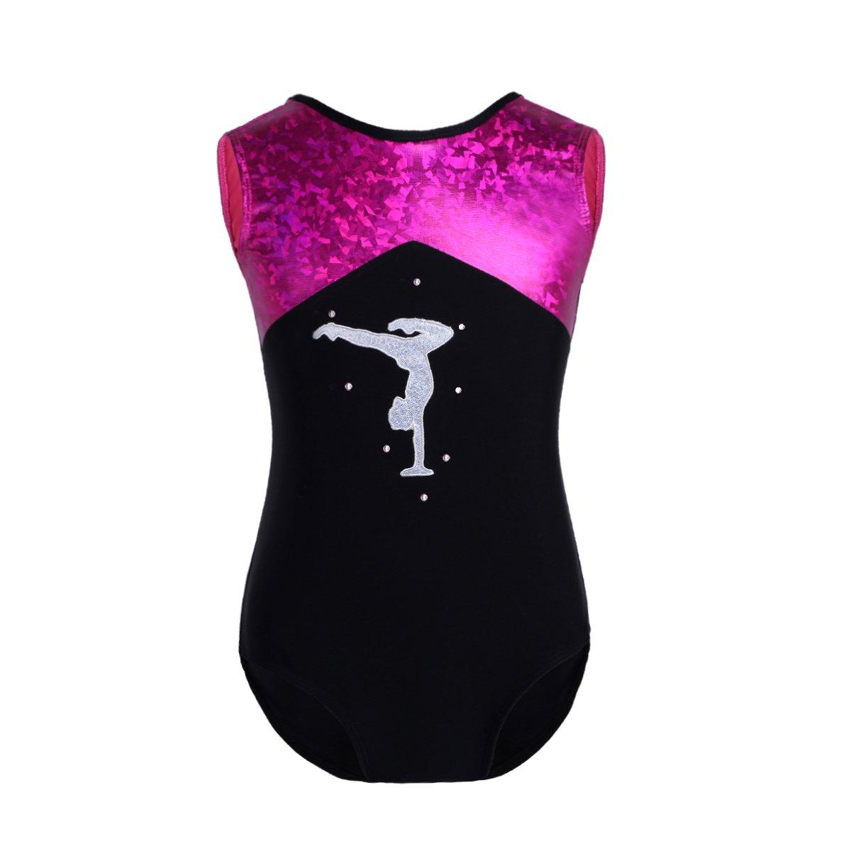 Freebily Maillot Clásico de Danza Ballet Gimnasia para Niña Chica Leotardo Body Mono de Ballet Cómodo y Transpirable