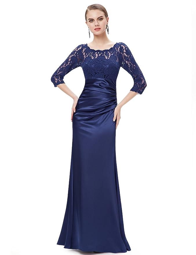 Ever Pretty Womens Elegant 3/4 Sleeve Lace Long Evening Dress 09882: Amazon.co.uk: Clothing