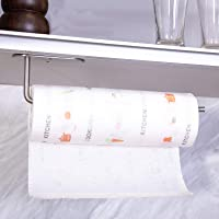 Kitchen Paper Towel Holder with Self Adhesive and Screws, Stainless Steel Rolls Paper Tower Holders, Rack Under Cabinet…