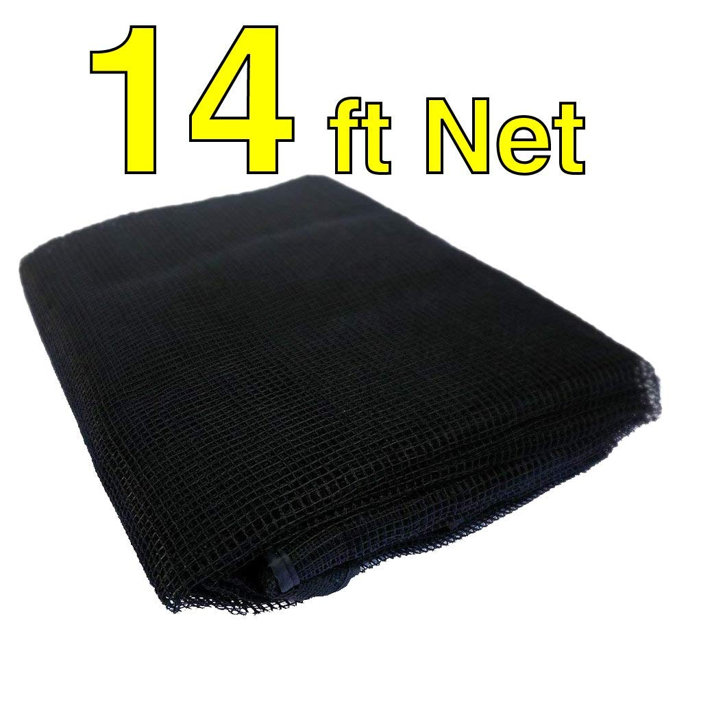 Trampoline Replacement Nets | Sizes 8 ft Thru 15 ft | Net Only | Poles and Top Ring Not Included (14 Foot Net, 14' | Fits 3 Arch | Sleeves)