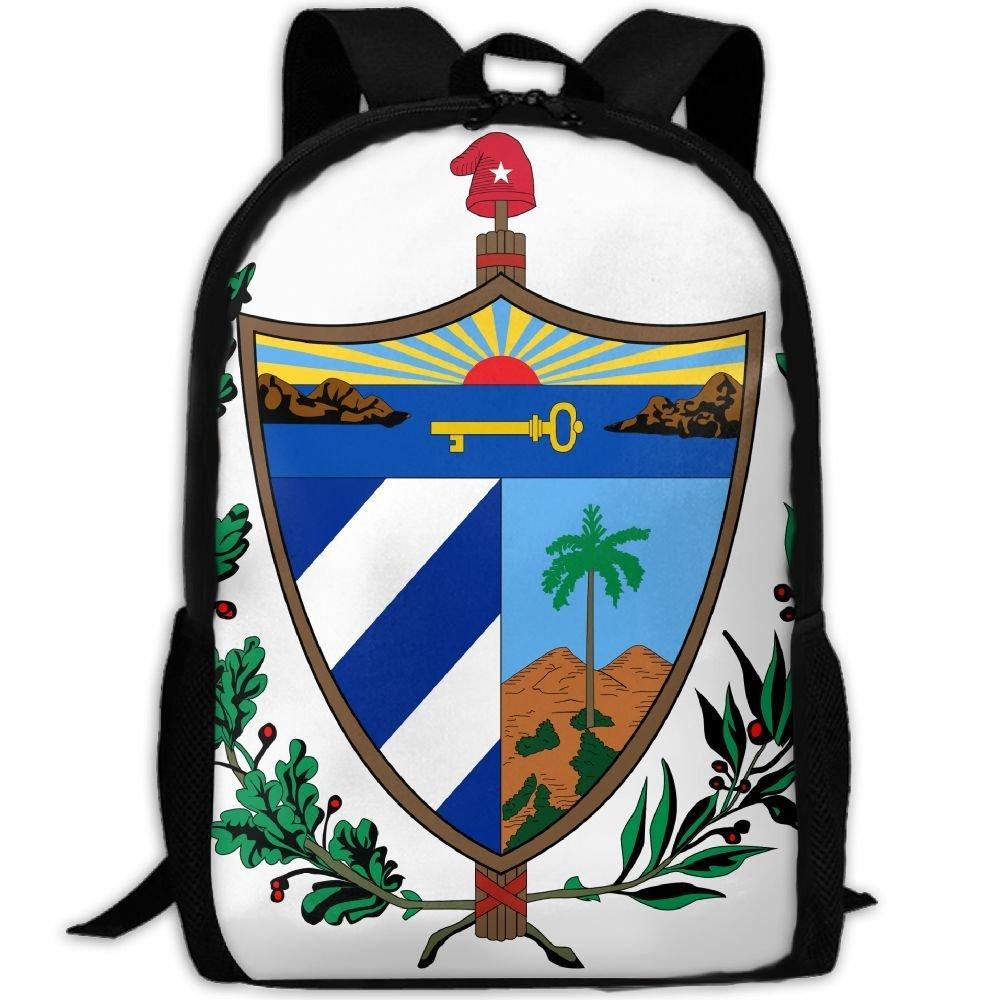 ZQBAAD Coat Of Arms Of Cuba Luxury Print Men And Women's Travel Knapsack