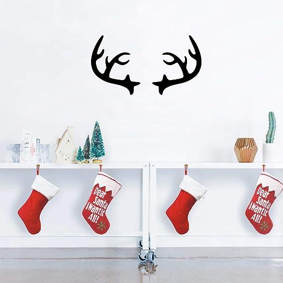 Wall Decal Nursery Reindeer Sticker Office Vinyl Christmas Decorations Home Art Deer Antlers Dorm Decor Buck Decorative Design