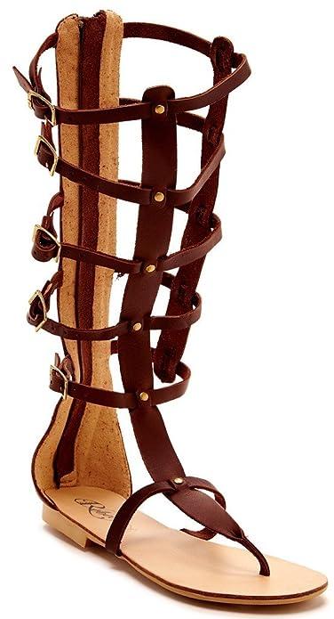 37a7d9890a7 Modern Rebel Arosa Womens Fashion Geniune Leather Gladiator Sandals