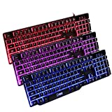Euone ZERODATE XO Brand New 3 Colour Changeable Mechanical Gaming Ultimate Keyboard With Backlight (Black)