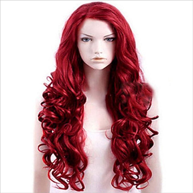 Peluca de mujer, peluca de cabello real, rizos de cabello largo ...