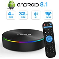 Android TV Box, YAGALA T95Q Android 8.1 TV Box 4GB RAM 32GB ROM Amlogic S905X2 Quad-core Cortex-A53 Bluetooth 4.1 HDMI 2.1 4K Resolution H.265 2.4GHz&5GHz Dual Band WiFi Smart Box