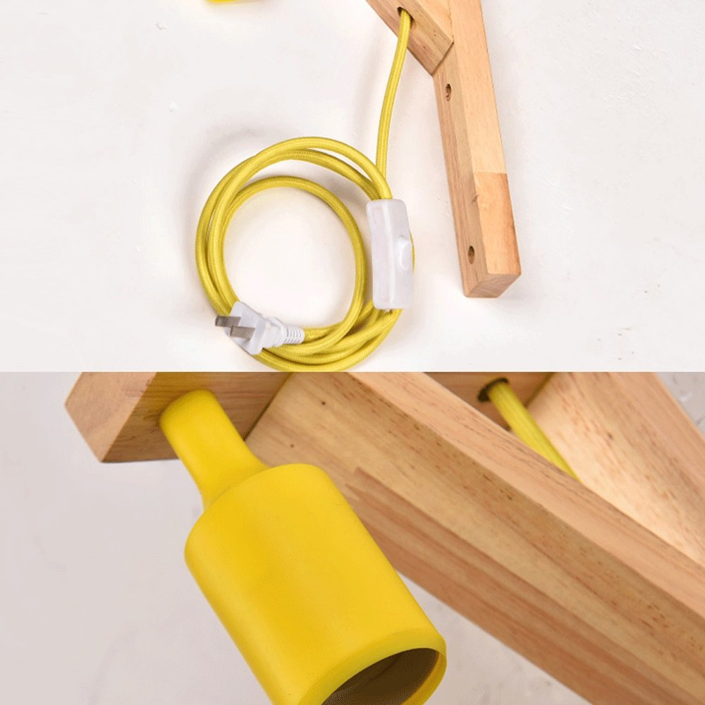 Amazon.com: Lámpara de pared japonesa de madera maciza tipo ...