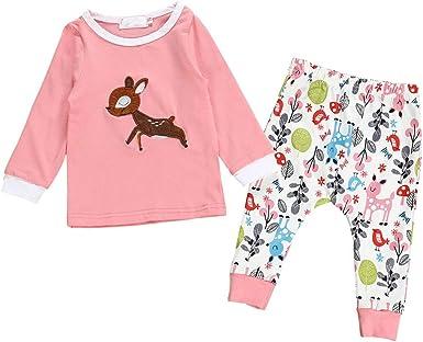 Pijama Bebe Algodon Bebe Niña/Jersey de Otoño y Pantalones ...