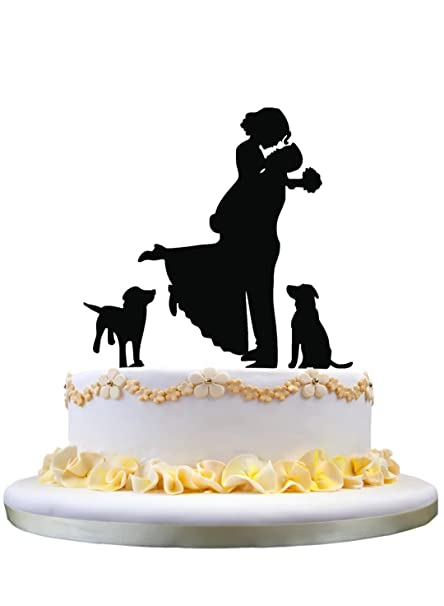 Amazon Com Zhongfei Funny Wedding Cake Topper Groom Holding Bride