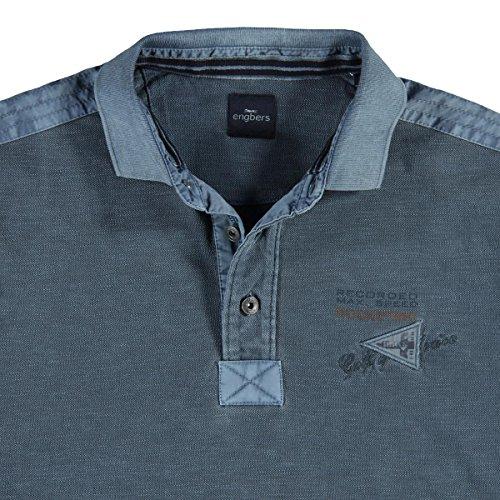 engbers Herren Poloshirt langarm, 23134, Blau