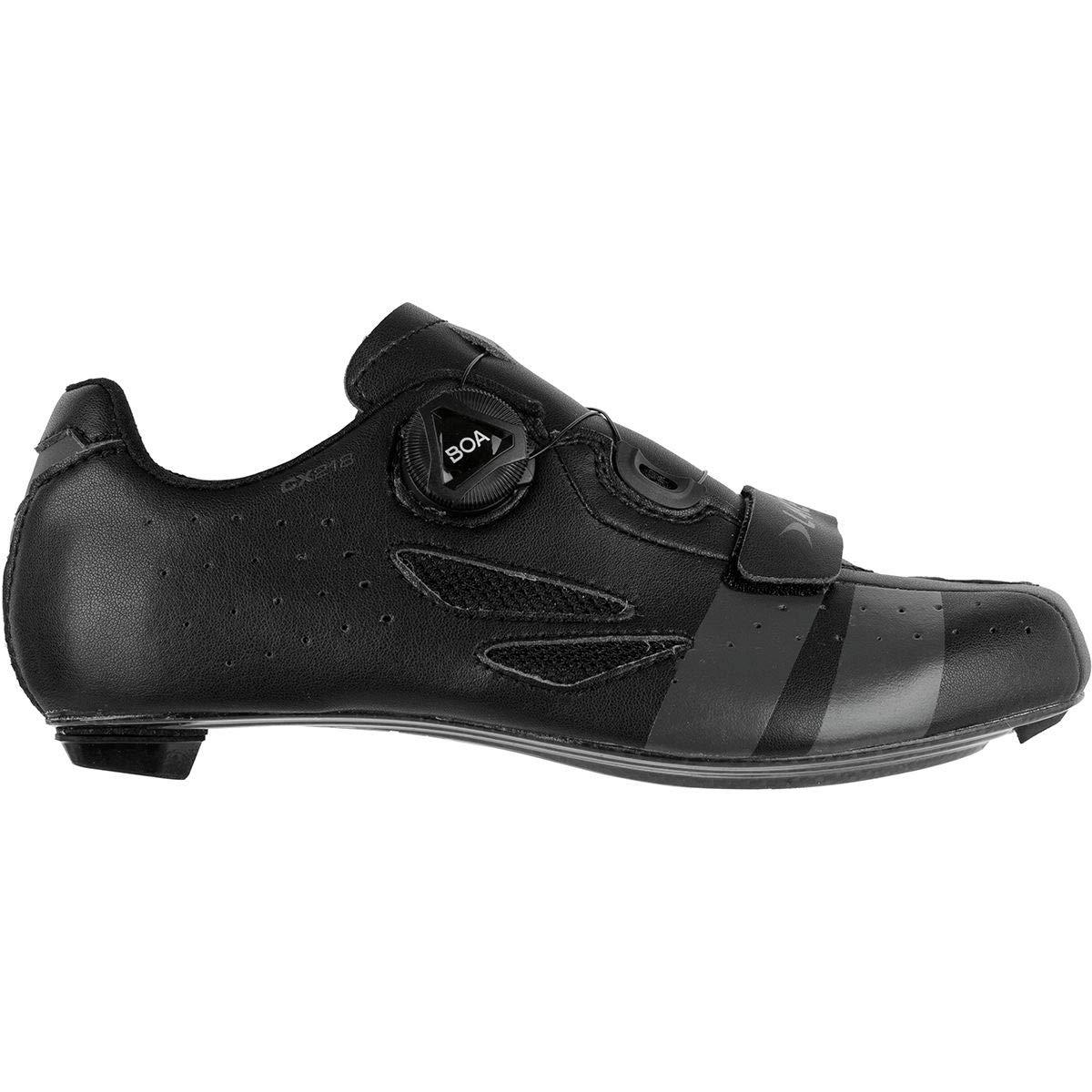 Lake CX218 サイクリングシューズ メンズ ブラック/グレー 48.0   B07PMD4THP