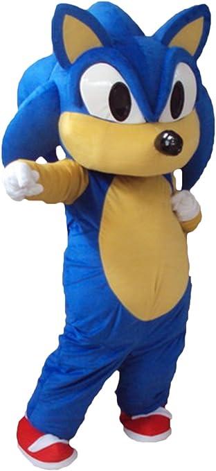 Happy Shop Eu Sonic The Hedgehog Halloween Adult Mascot Costume Fancy Dress Outfit Amazon Co Uk Sports Outdoors