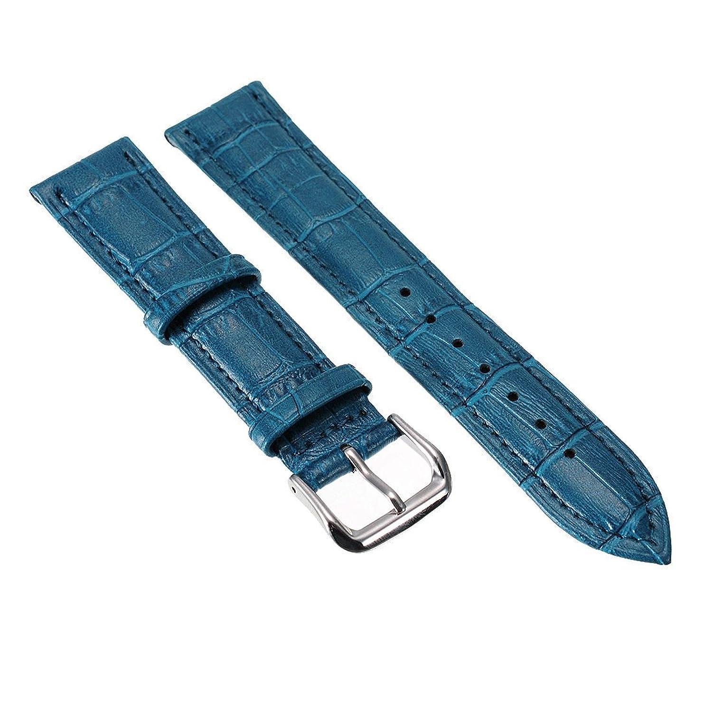 ブルーユニセックス7色本革Alligator Crocodile Grain時計ストラップバンド20 mm  B01IIC28GA