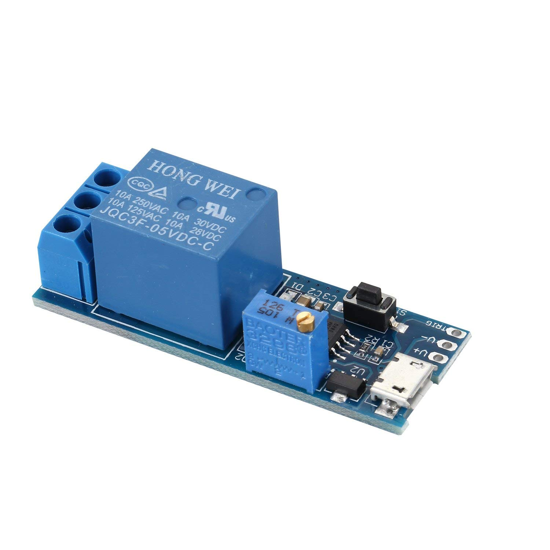 TOOGOO(R) Wide voltage 5V-30V trigger delay relay module, timer module, time delay switch by TOOGOO(R) (Image #3)