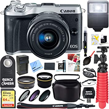 Amazon.com: Canon M6 EOS 24,2 MP Mirrorless cámara digital ...