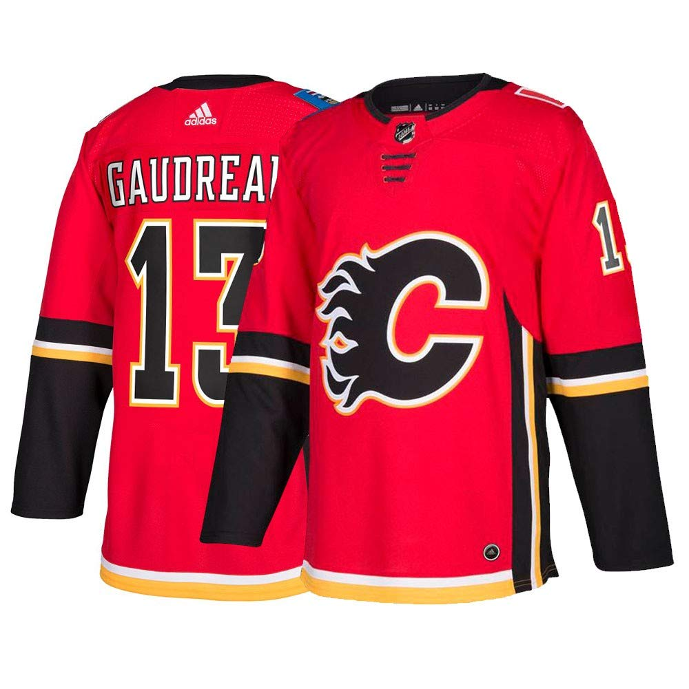 new style 24348 d571b Johnny Gaudreau Calgary Flames Adidas Authentic Home NHL ...