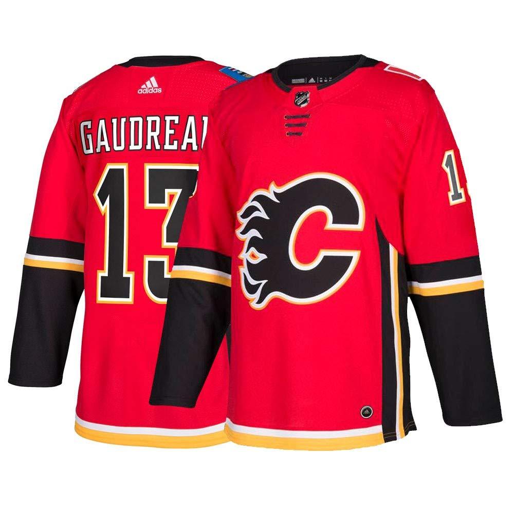 new style 16e70 ca54e Johnny Gaudreau Calgary Flames Adidas Authentic Home NHL ...