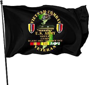 Vietnam Combat Veteran - Us Army Vietnam 3x5 Foot Flag Outdoor Flag 100% Single-Layer Translucent Polyester 3x5 Ft Flag