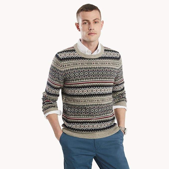 Tommy Hilfiger 汤美费格 Fairisle 男式毛衣 L码2.6折$33.02 海淘转运到手约¥294
